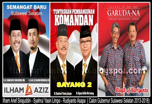 Calon Gubernur Sulawesi Selatan 2013-2018